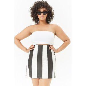 756195a37e NWT Striped Faux Leather Skirt